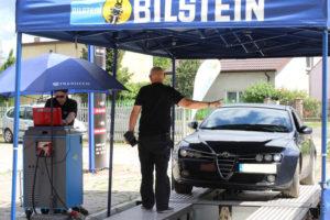Alfa Romeo podczas darmowego badania technicznego w AUTO-KOLAND MaXserwis