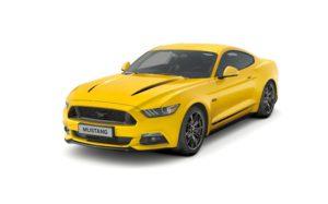 Żółty Ford Mustang