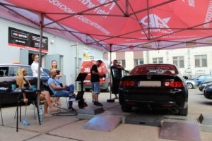 Honda Accord podczas darmowego badania technicznego w AUTO-KOLAND MaXserwis