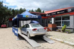 Audi A4 podczas badania technicznego MaXserwis